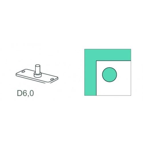 Vysekávací nůž kulatý D6,0 mm Diamond